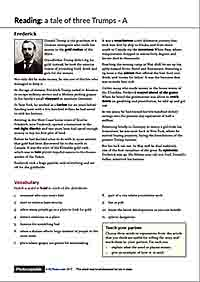Donald Trump ESL worksheet 2