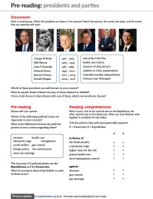 US Election ESL worksheet 2
